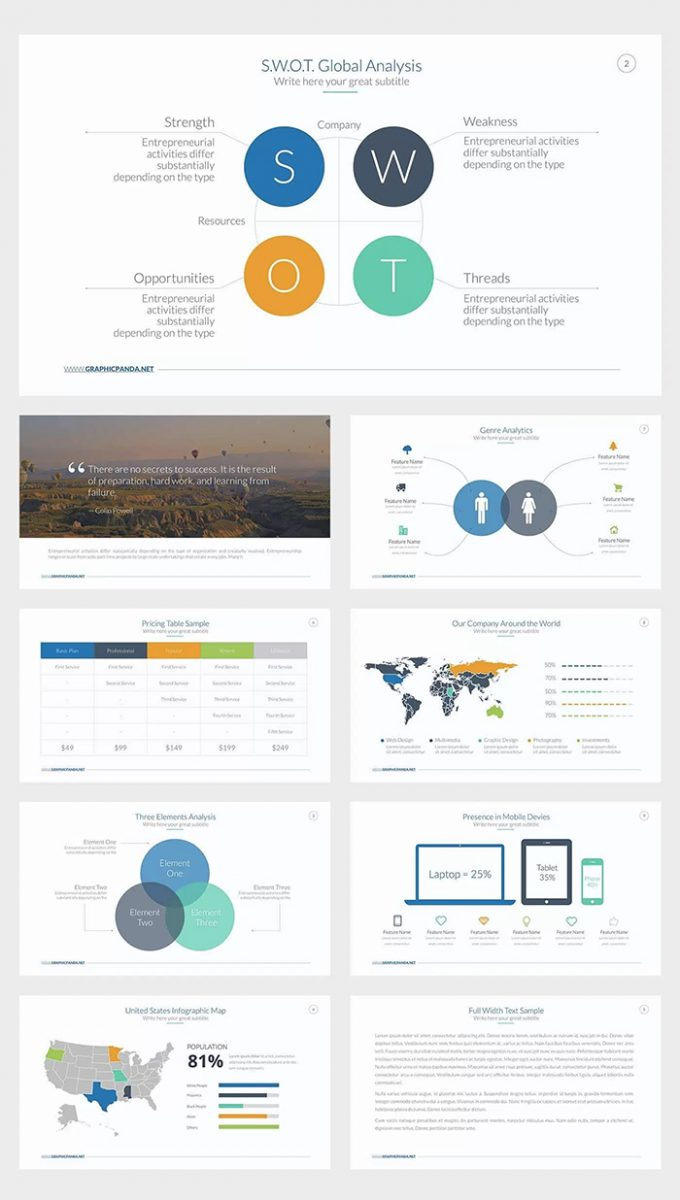 25 free company profile powerpoint templates for business, Modern powerpoint