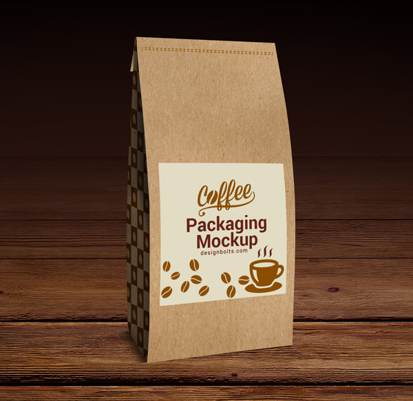 free high quality coffee packaging mockup psd