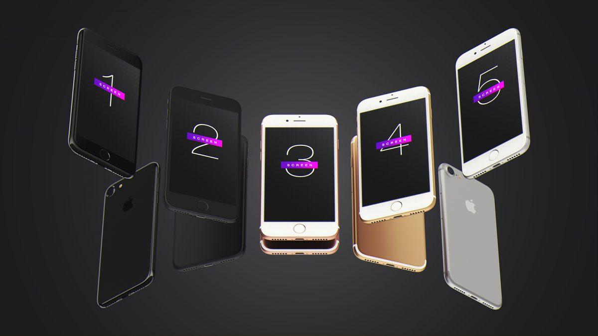 Free iPhone 7 UI Mockup PSD