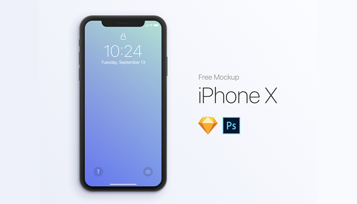 free iphone x mockups psd sketch