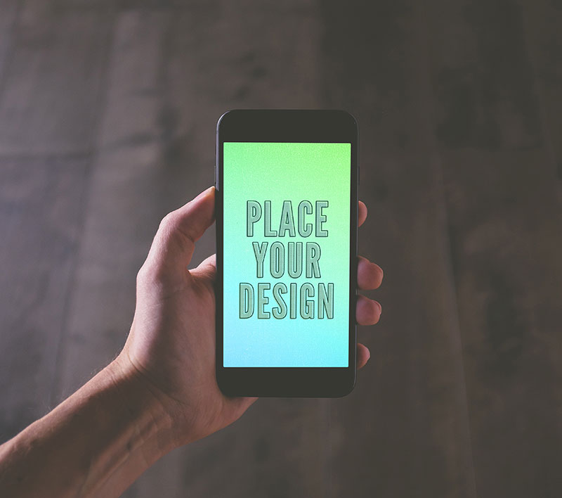 Free Jet Black iPhone 7 Plus Photo Mockup PSD