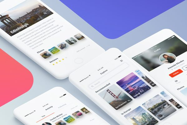 free mobile app ui kit designs photoshop sketch