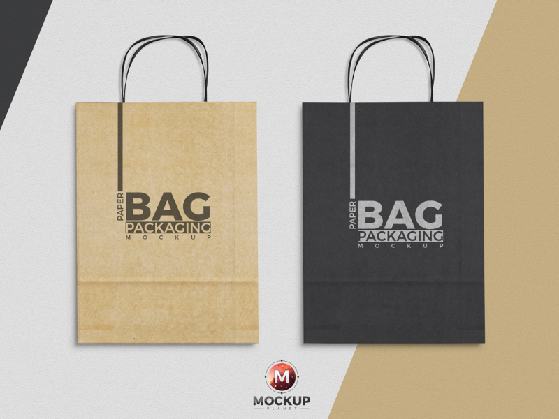 Free Paper Bag Mockup To Showcase Packaging Designs