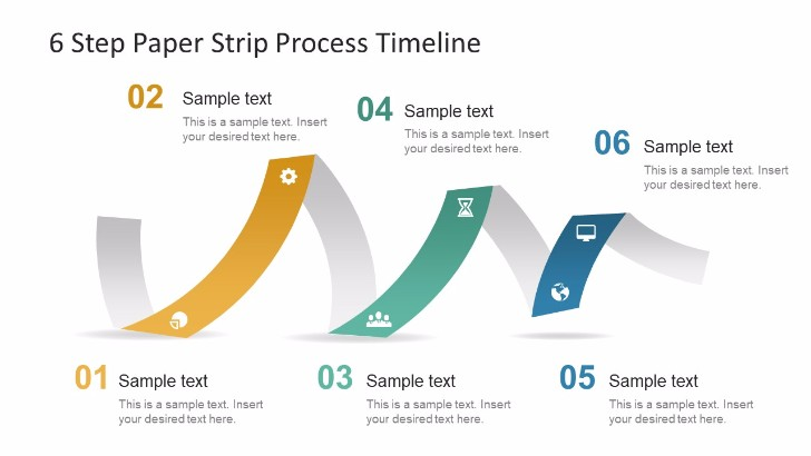 Free Paper Strip Process Timeline