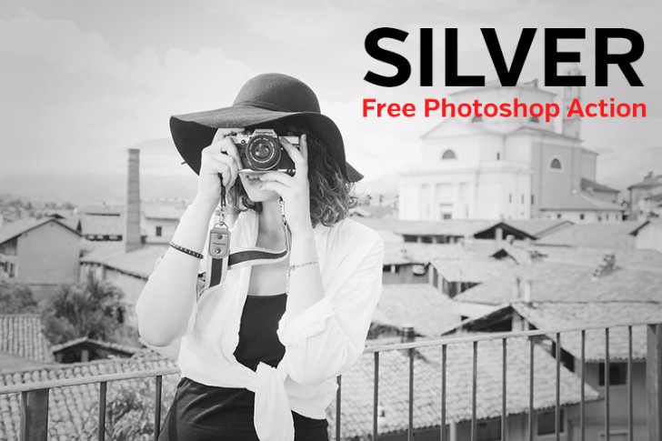 free photoshop action silver