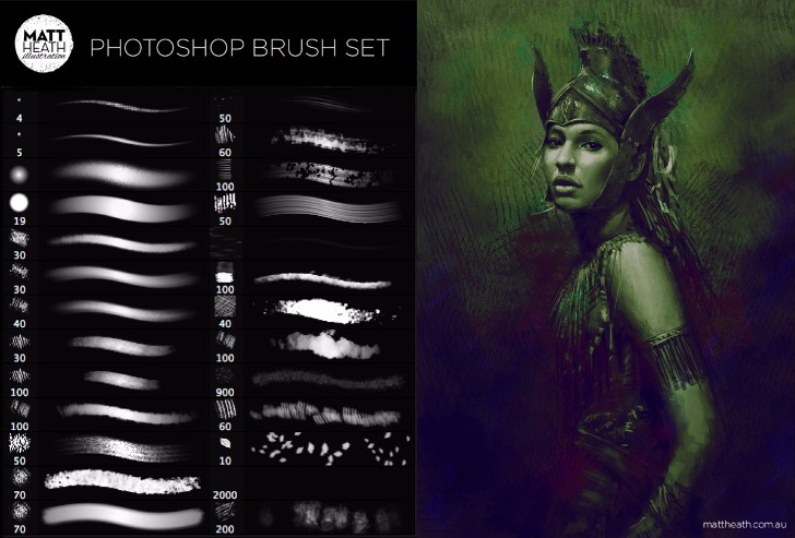 free photoshop matt brush set