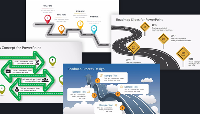 free project roadmap powerpoint templates - Free Roadmap Template