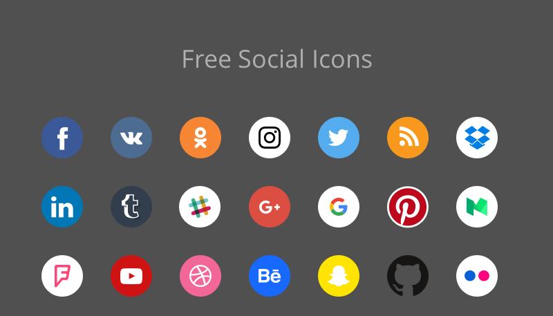 Free Social Icons 77 icons