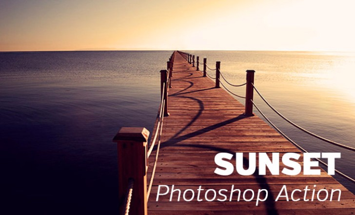 Free Sunset Photoshop Action