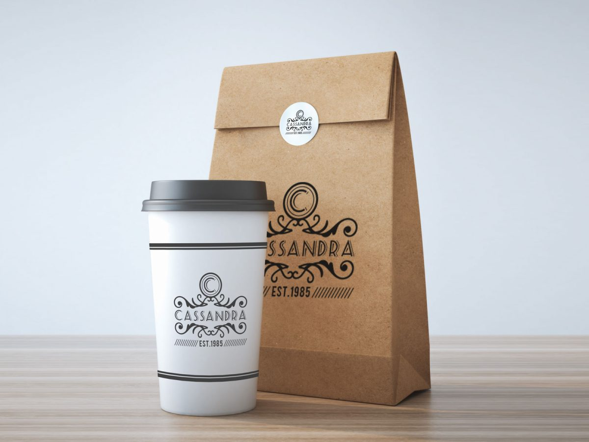 Free Take Away Coffee Cup Burger Packaging Mockup PSD