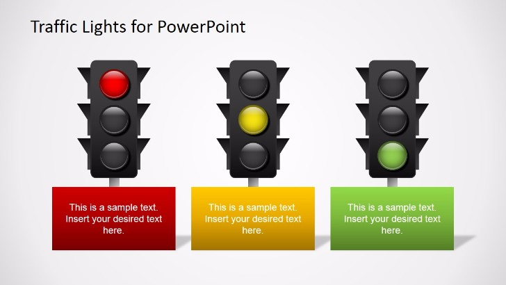 Free Traffic Lights for PowerPoint