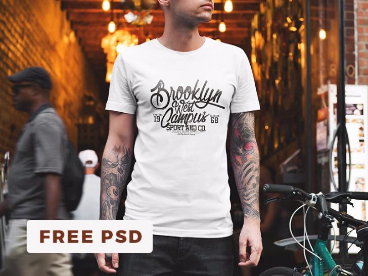 Free TShirt Mockup Urban Edition