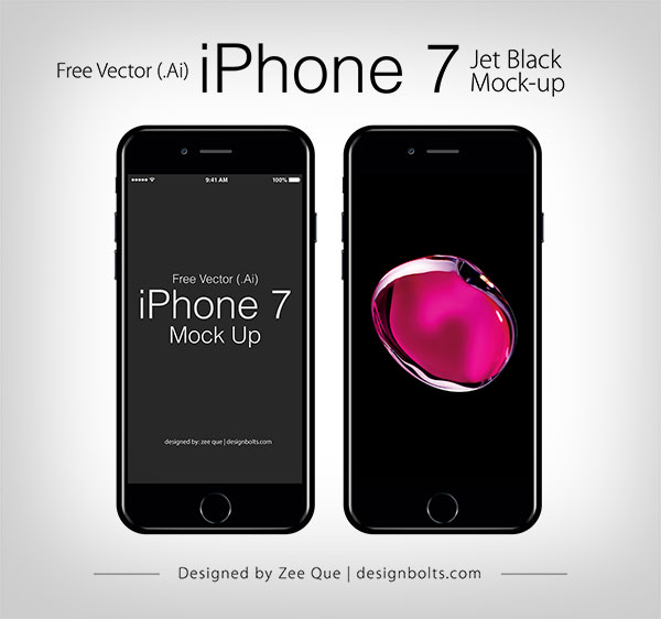 Free Vector Apple iPhone 7 Ai EPS