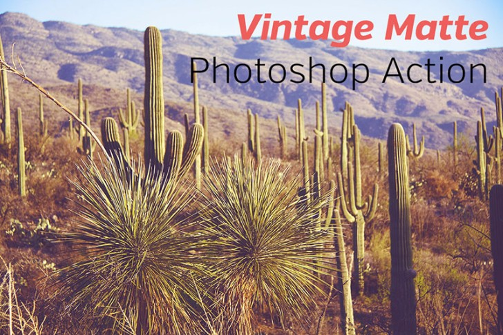 Free Vintage Matte Photoshop Action