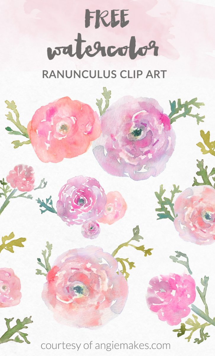 Free Watercolor Flower Clip Art