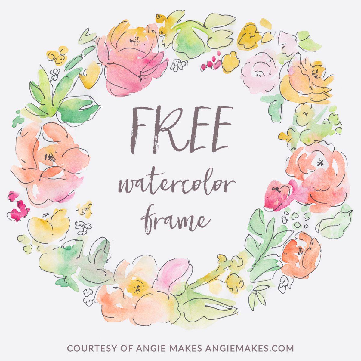 Free Watercolor Flower Wreath