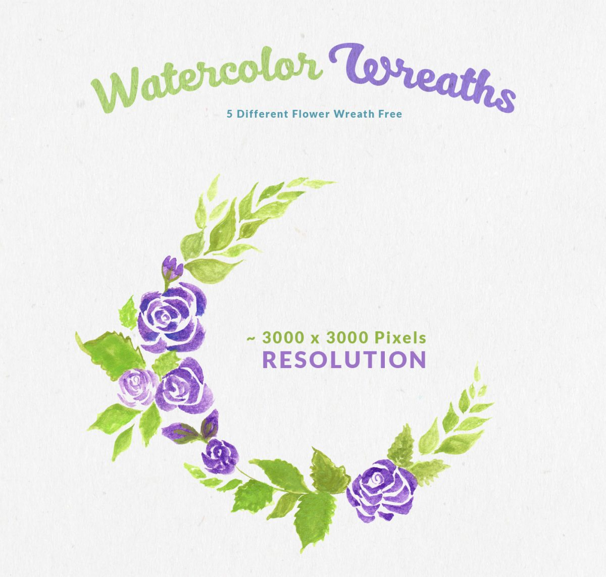Free Watercolor Flower Wreaths