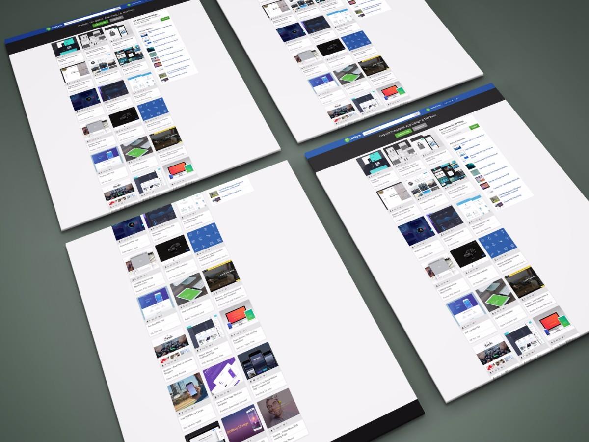 Freebie Perspective Website PSD MockUp