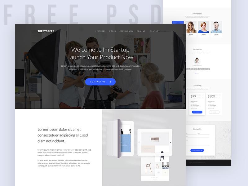 Freebie Start up Landing Page