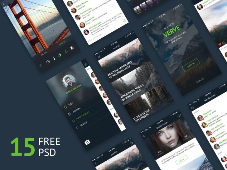 Freebie Verve UI Kit