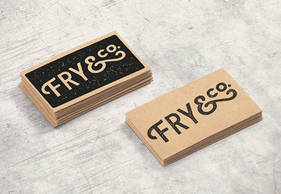 Fry Co Stamped Business Cards