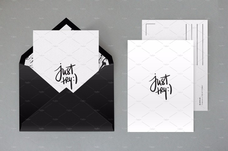 Fully layered envelope mock up