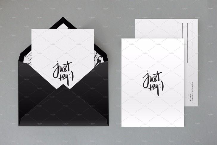 Fully layered envelope mock up