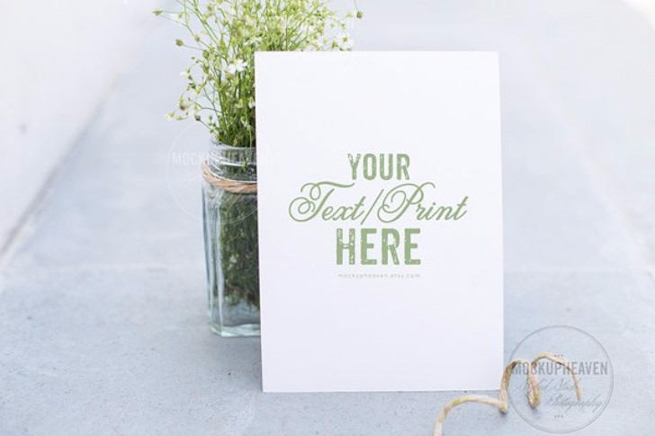 Garden Wedding Invitation Mockup
