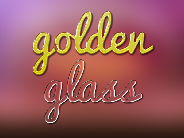 Gold and Glass Text Effects