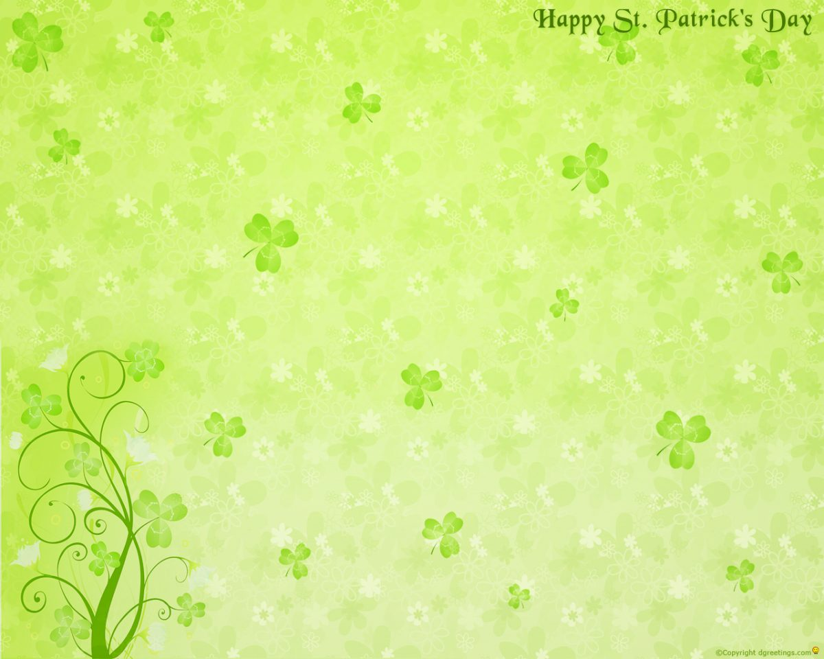 green st patrick background