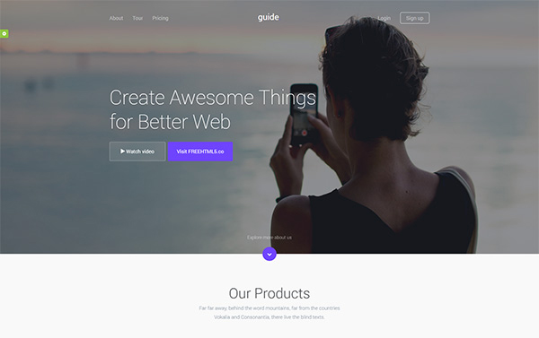 Guide Free HTML Template