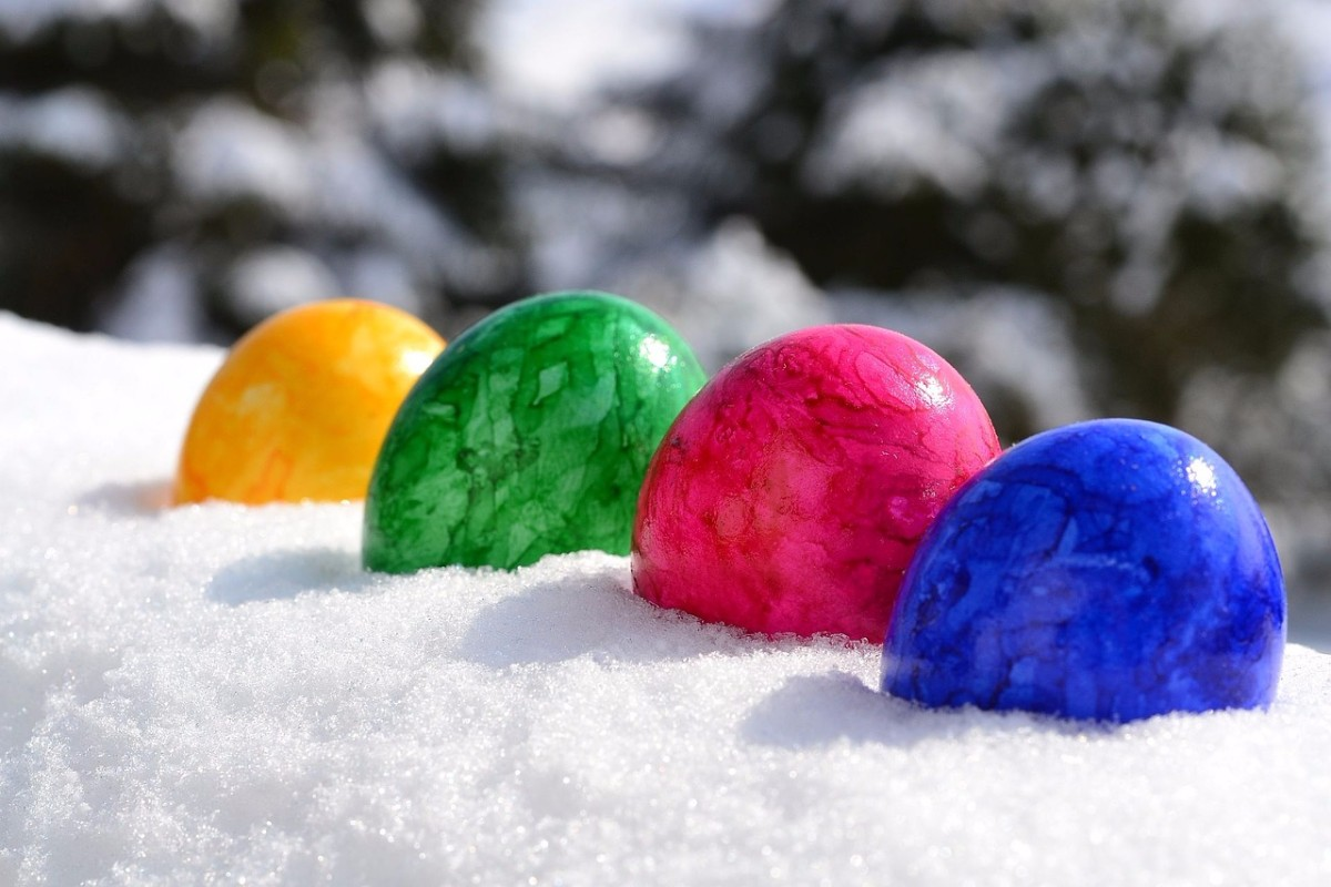 Happy Easter in the snow