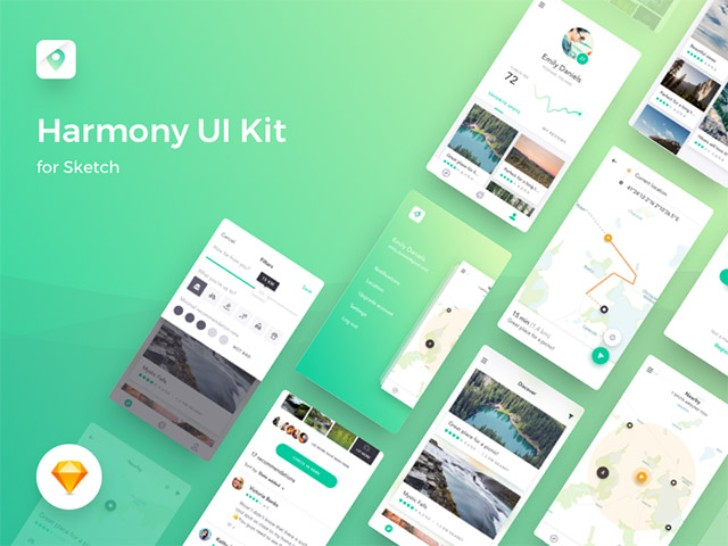 harmony sketch ui kit for map based apps