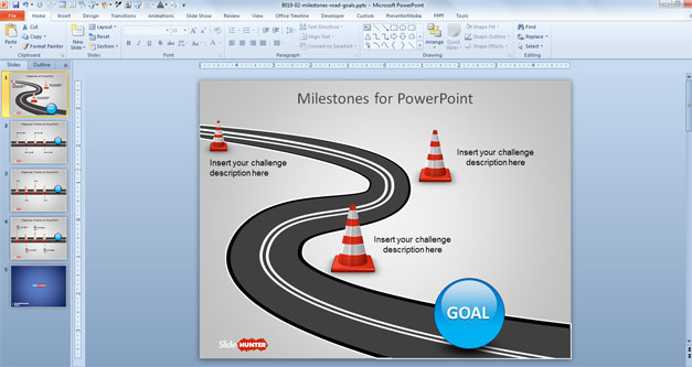 road milestones slides