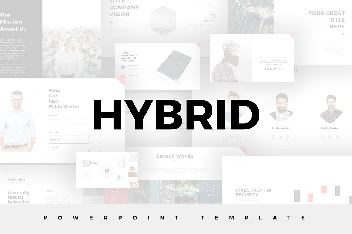 Hybrid Minimal PowerPoint Template