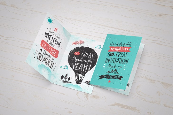 Invitation Greeting Card MockUp FREEBIE