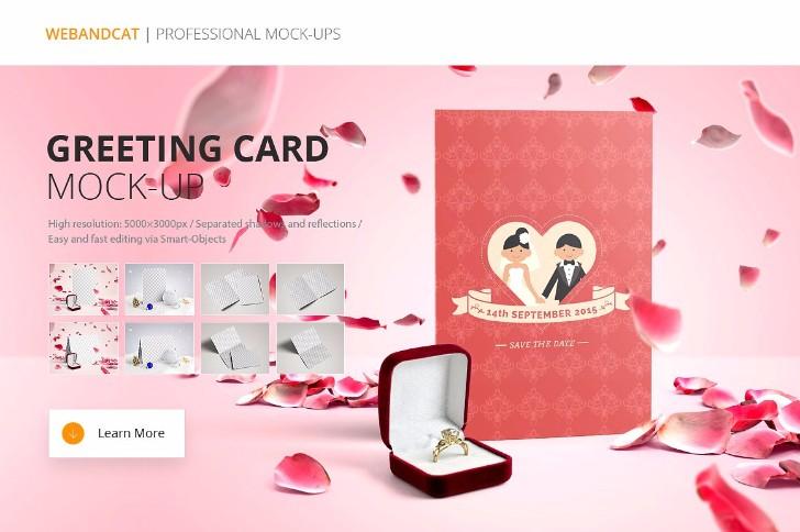 Invitation Greeting Card Mockup