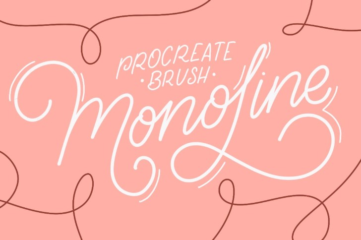 iPad Lettering brush Monoline