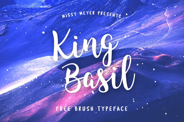 King Basil Brush Font