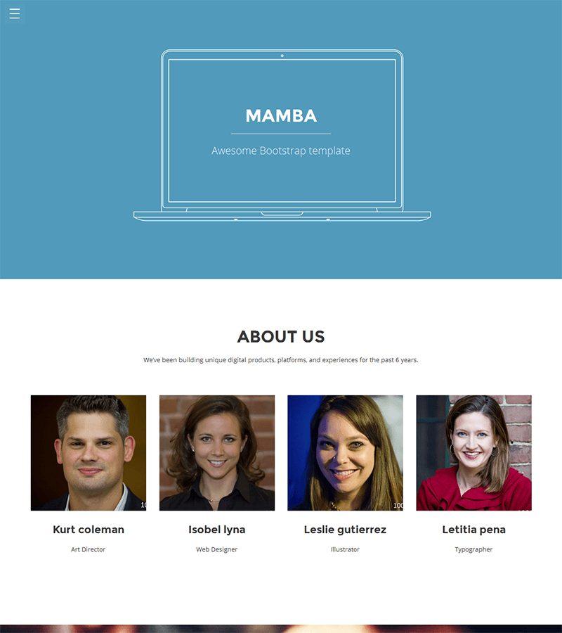 Mamba Bootstrap template