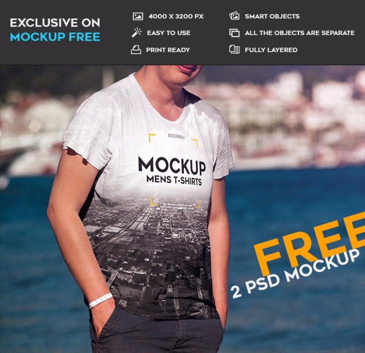 Mens Tshirt 2 Free PSD Mockups