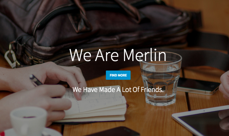 Merlin Free Single Page Bootstrap Template