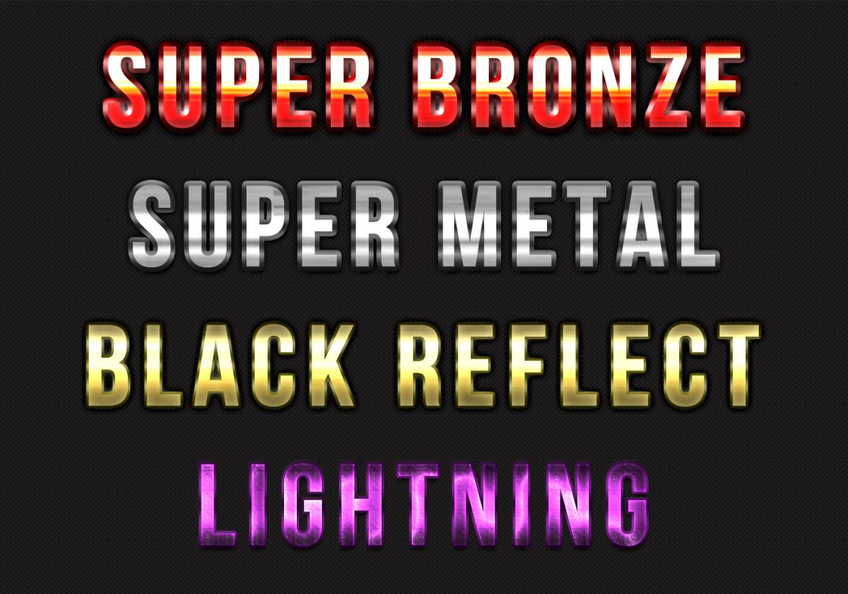 Metal Lightning Text Styles