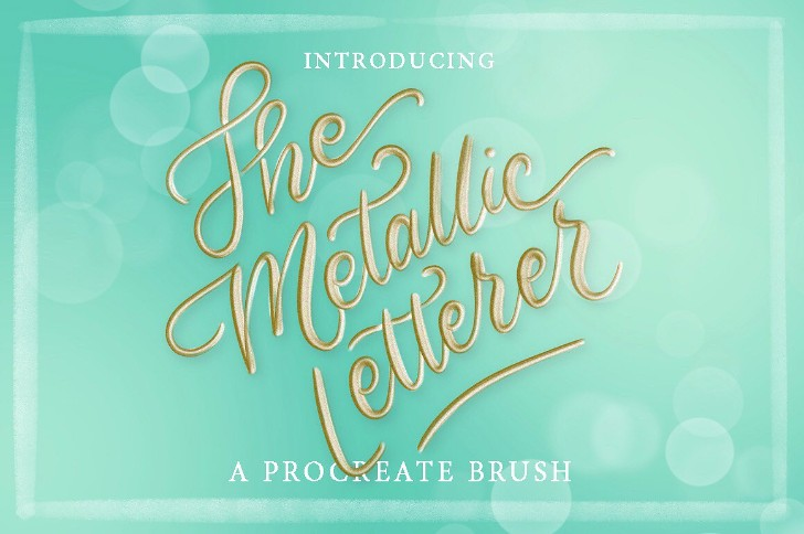 Metallic Letterer Procreate Brush