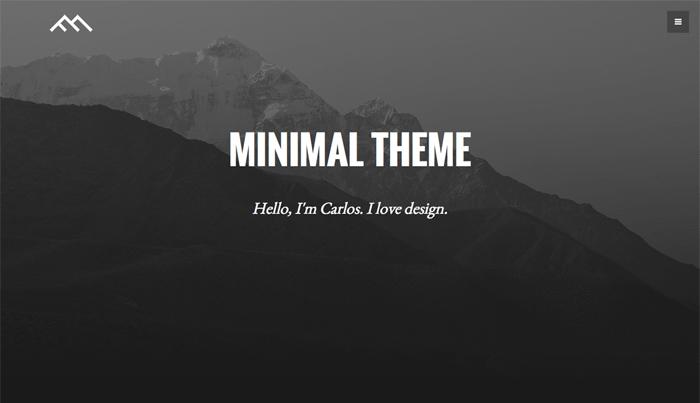 Minimal Dark Bootstrap 3 Theme