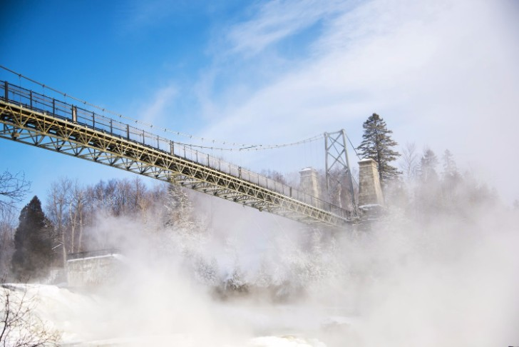 montmorency falls ville de quebec canada
