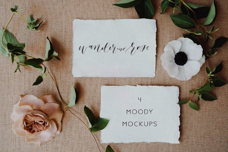 Moody Styled Invitation Mockups