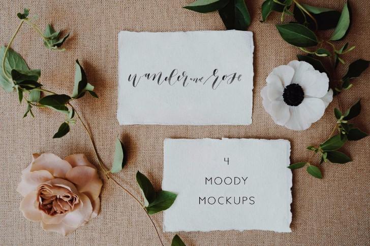 Moody Styled Invitation Mockups