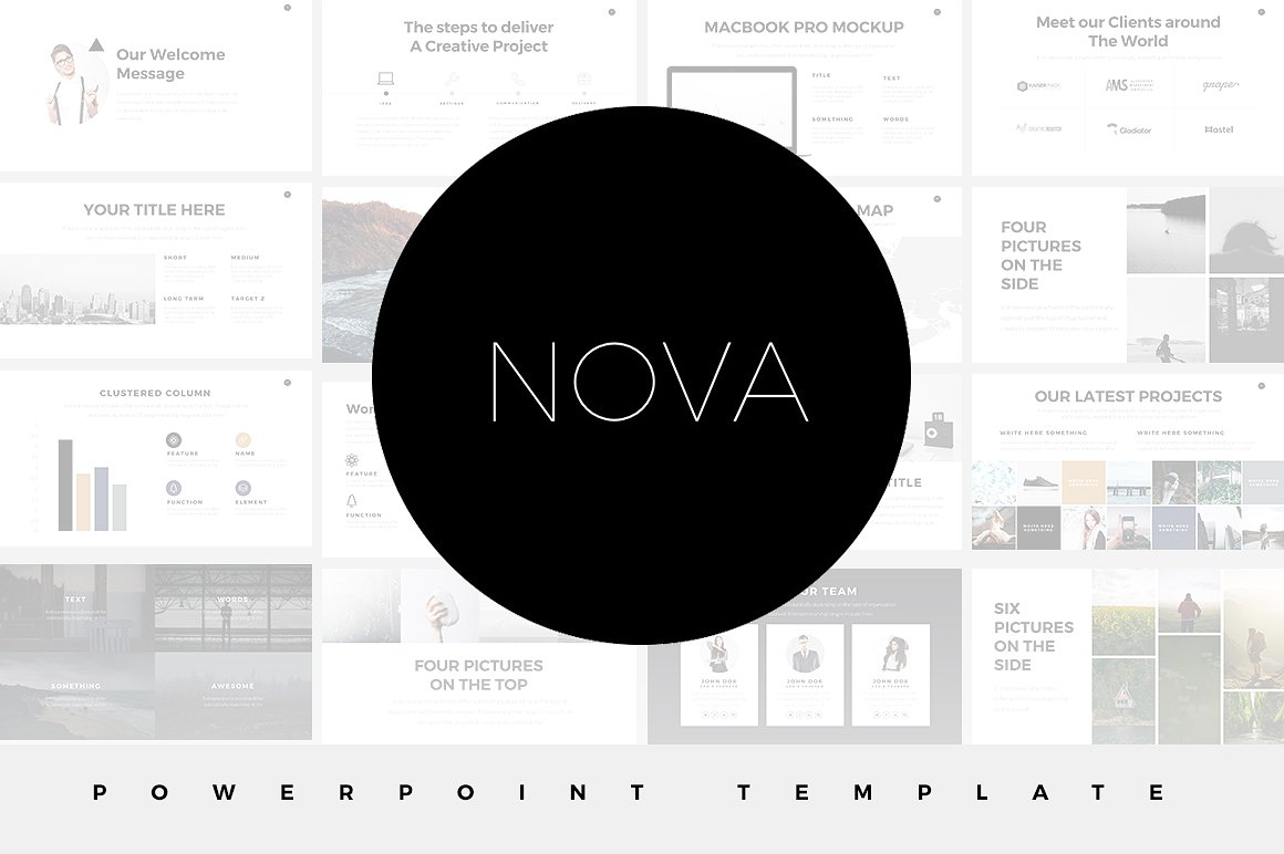 30 aesthetic powerpoint templates for clean presentations 2018 for Minimalist powerpoint template free