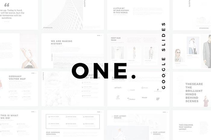 one-minimalist-clean-google-slides